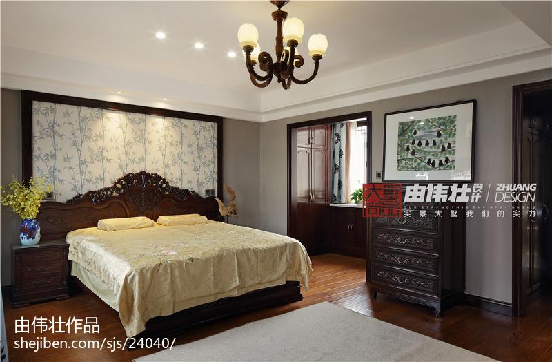 精选别墅卧室中式装饰图片