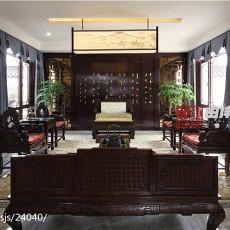 精美面积141平别墅客厅中式装修设计效果图片大全