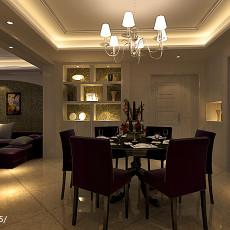 2018面积132平现代四居餐厅装修图片欣赏