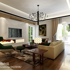 精美116平米中式别墅客厅欣赏图片