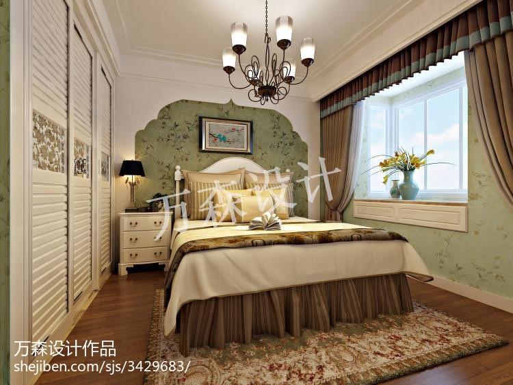 精选82平米二居卧室美式装饰图