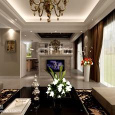 精美复式客厅欧式装修设计效果图片