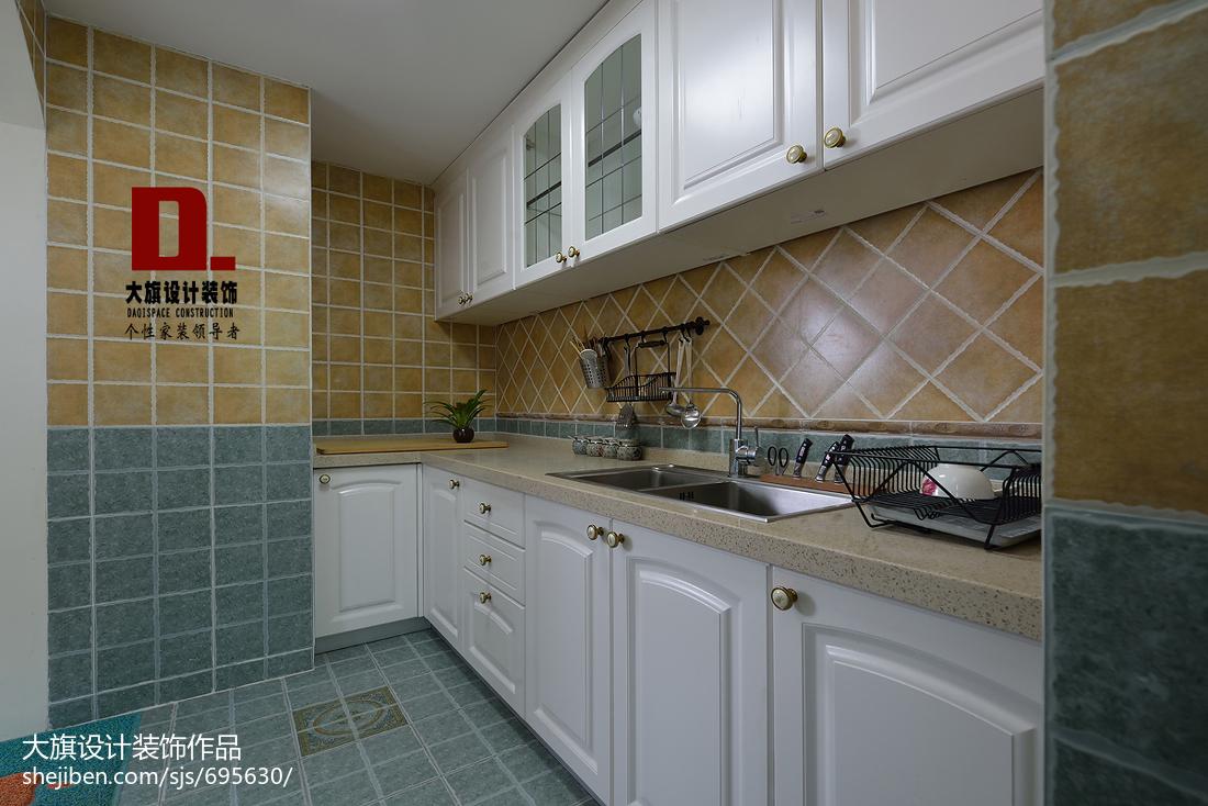 美式田园厨房装修图片
