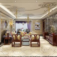 热门面积129平复式客厅现代装饰图片大全