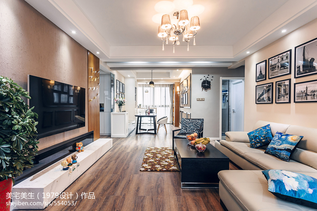 精选104平方三居客厅现代装饰图片大全