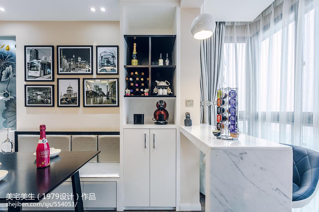 精选大小103平现代三居餐厅欣赏图片