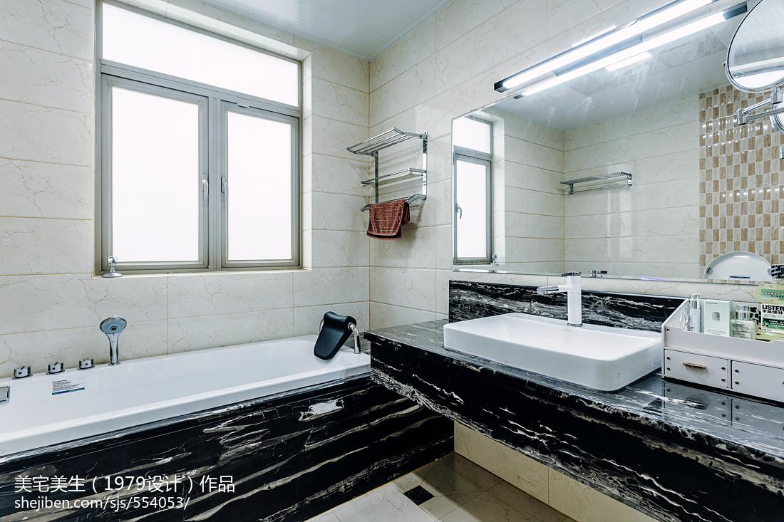 精美101平米三居卫生间现代装饰图片