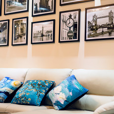 精美105平客厅三居现代装修图片欣赏