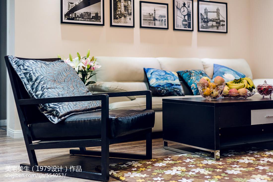 热门98平方三居客厅现代装修实景图片大全