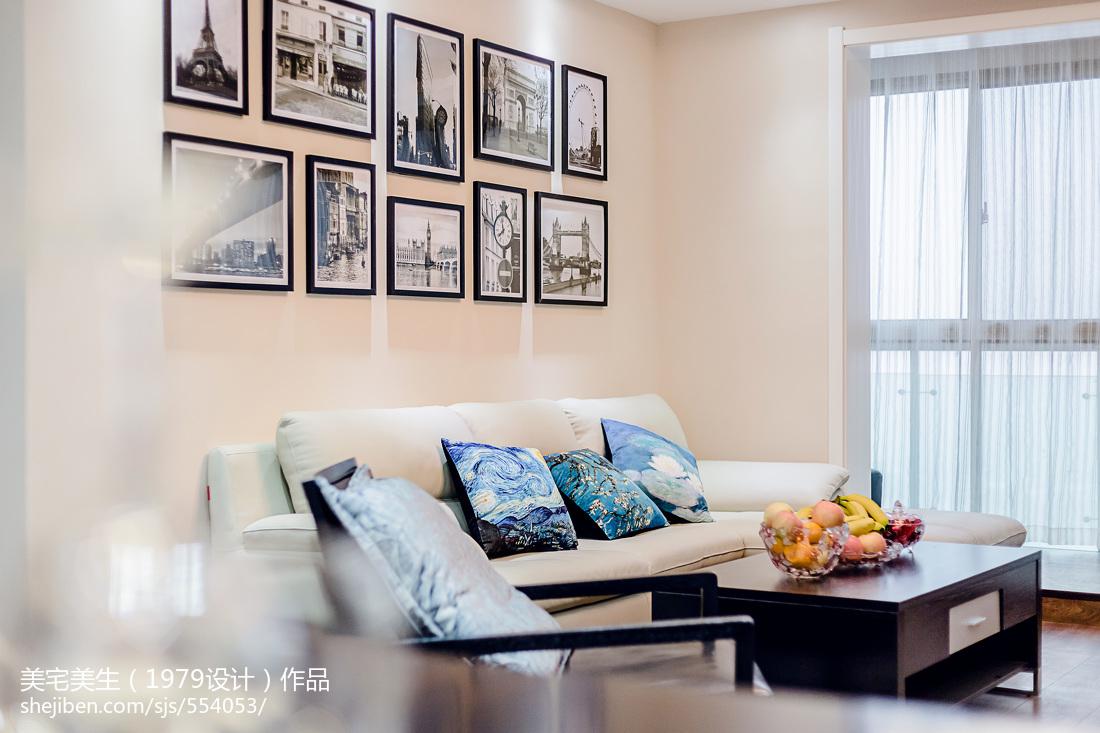 热门大小102平现代三居客厅效果图片大全