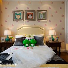 201899平米三居卧室美式装修设计效果图片大全