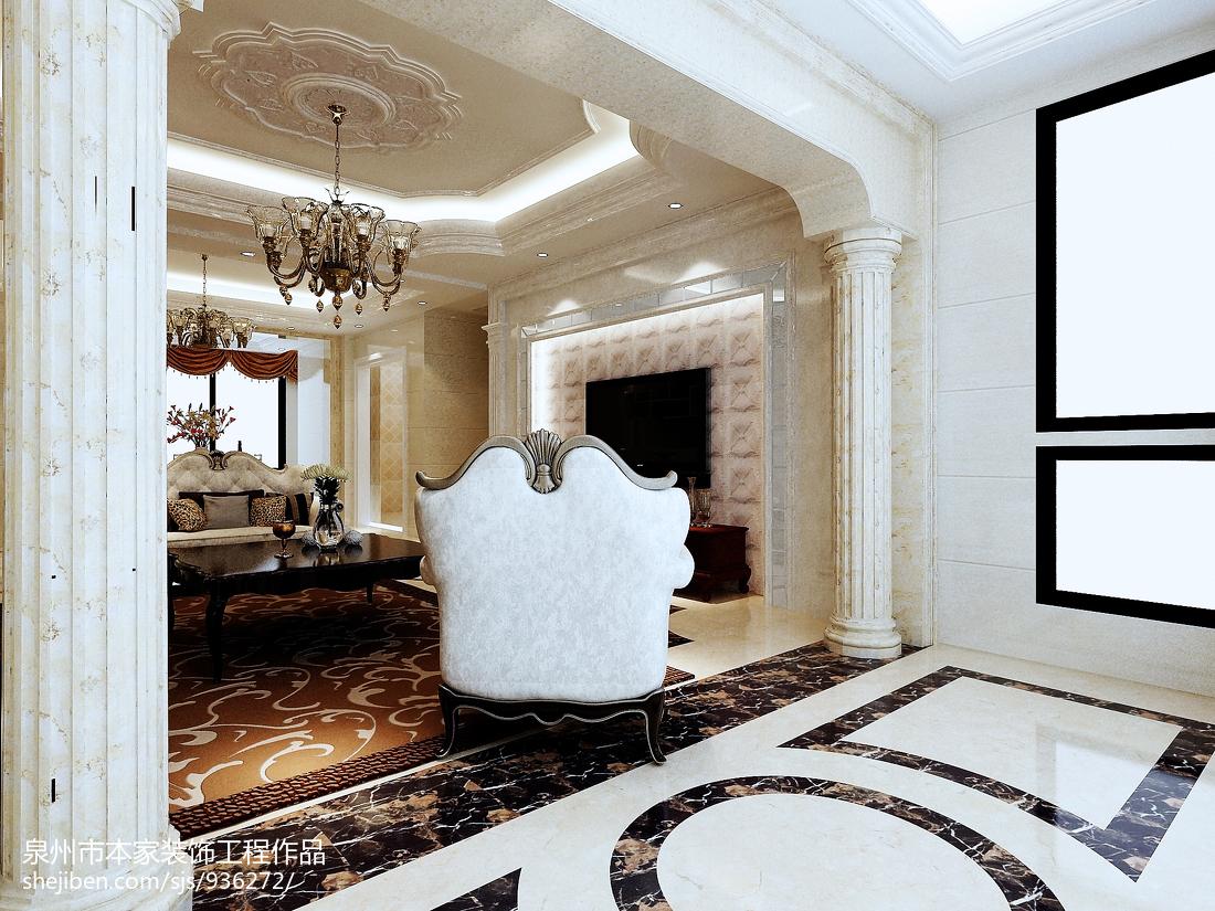 热门107平方三居客厅欧式效果图片大全