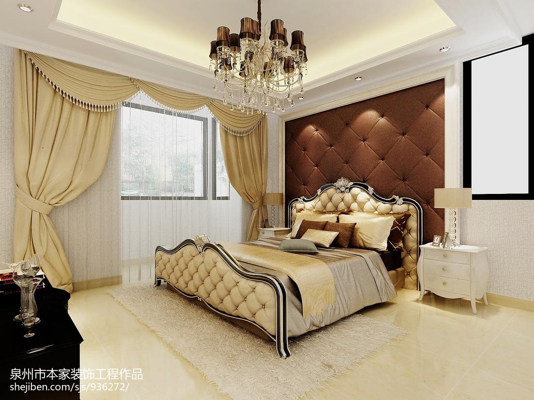 101平米三居卧室欧式装修设计效果图片大全