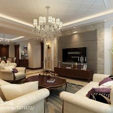 92平方三居客厅欧式装修实景图
