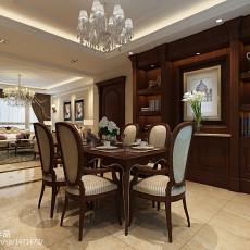 热门面积98平欧式三居餐厅装修欣赏图片大全