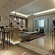 精美面积97平欧式三居客厅装修设计效果图片欣赏