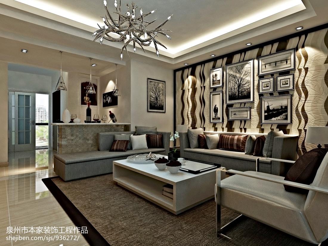 2018精选96平米三居客厅欧式装修设计效果图片欣赏
