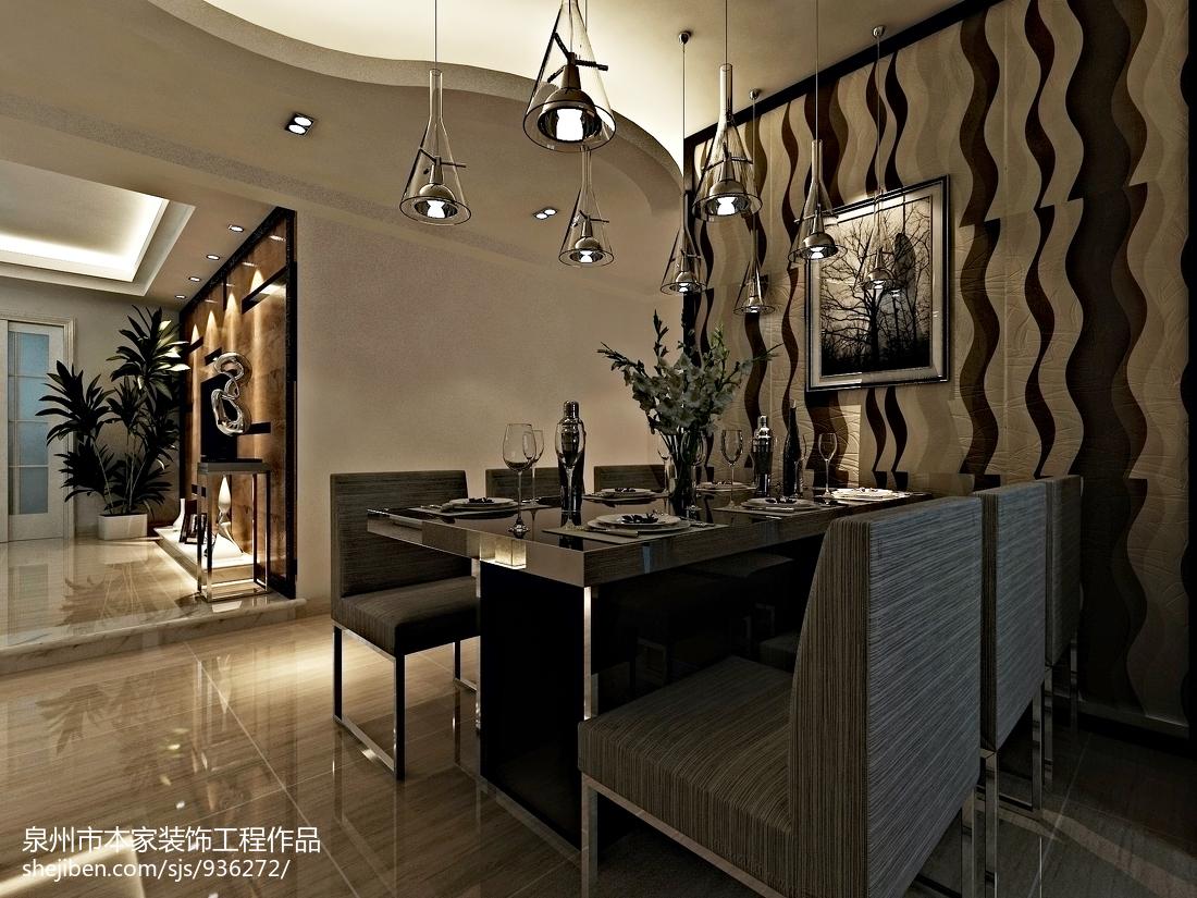 精美98平方三居餐厅欧式装饰图片欣赏