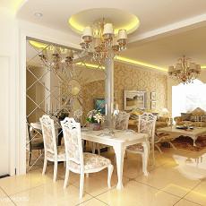 热门面积90平欧式三居餐厅装修实景图片欣赏