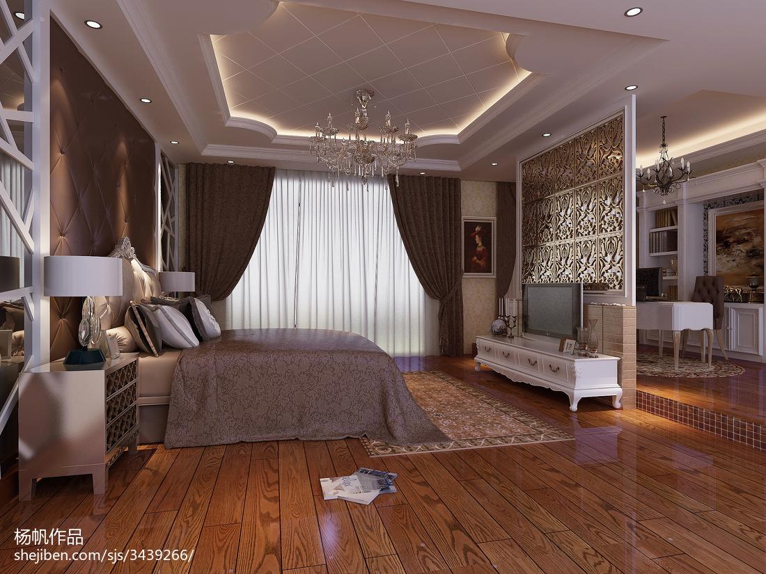 面积138平欧式四居卧室实景图