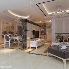 热门135平米四居客厅欧式欣赏图片