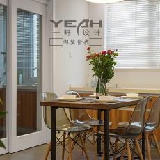 热门面积106平现代三居餐厅装修图片