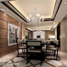 2018大小95平现代三居餐厅装修设计效果图片欣赏