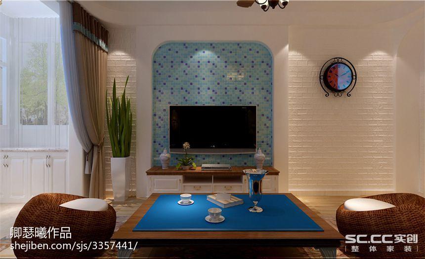 90平米小户型东南亚风格客厅装修效果图大全2014图片