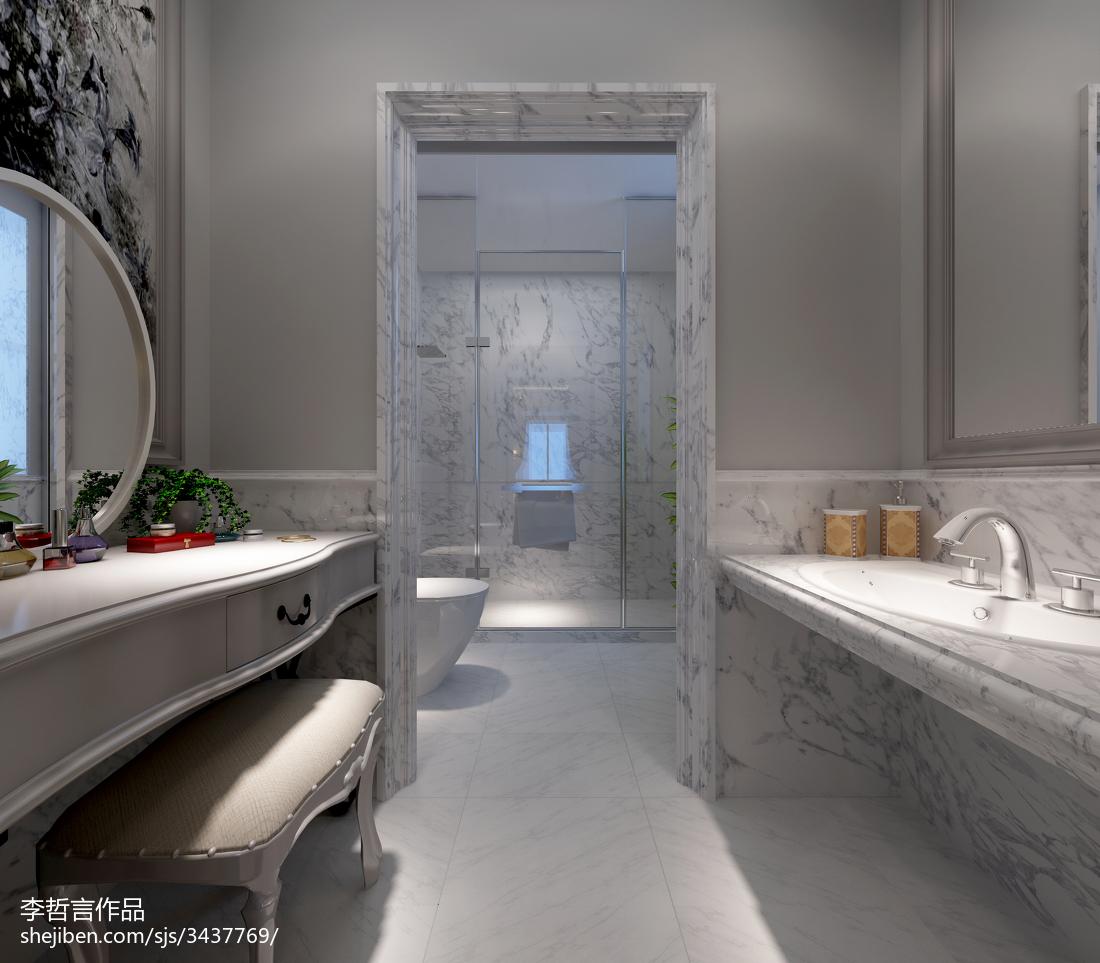精选面积140平别墅卫生间欧式装修设计效果图