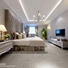 2018135平米欧式别墅卧室装饰图片欣赏