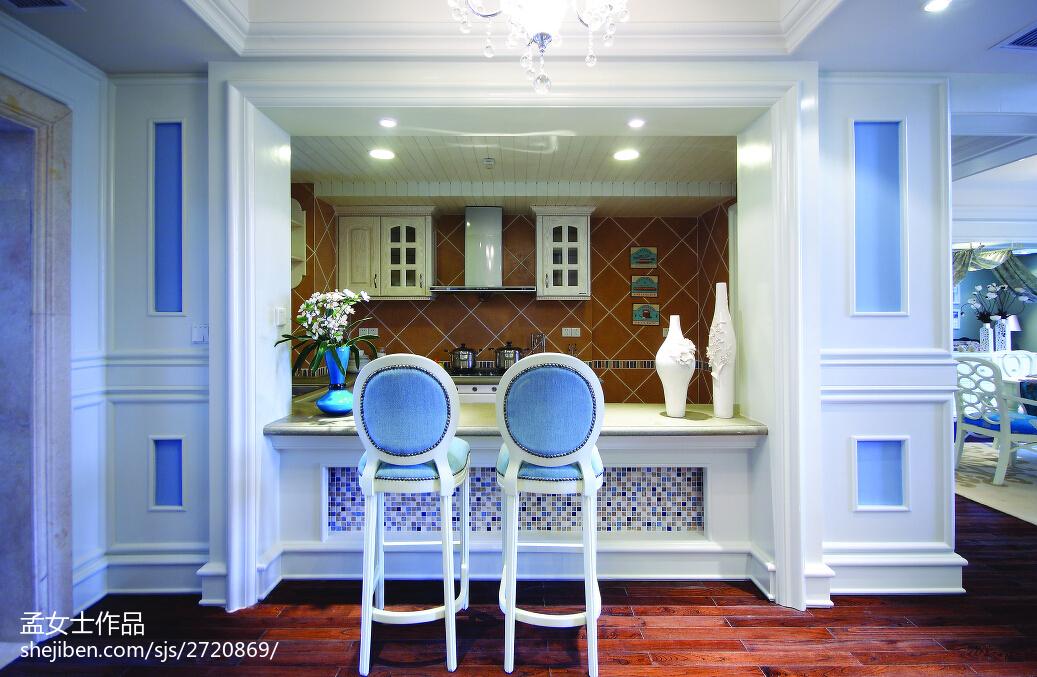 2018精选面积133平别墅厨房中式装修设计效果图