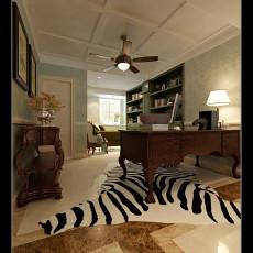 复式书房美式装修设计效果图