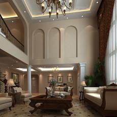 精选大小127平别墅客厅美式装修设计效果图片