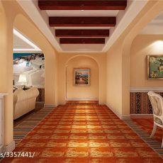 地中海风格装修家庭玄关设计