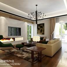 2018面积124平别墅客厅中式装饰图片大全