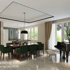 精美129平米中式别墅客厅实景图片