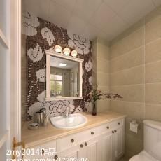 热门98平方三居卫生间现代欣赏图片