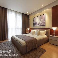 精选99平方三居卧室现代欣赏图片
