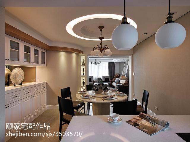 热门124平米现代复式餐厅欣赏图片大全
