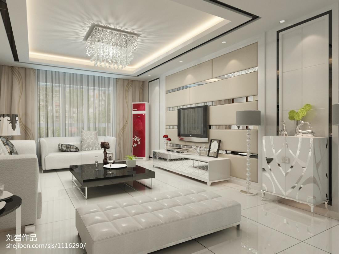 精美99平米三居客厅现代效果图