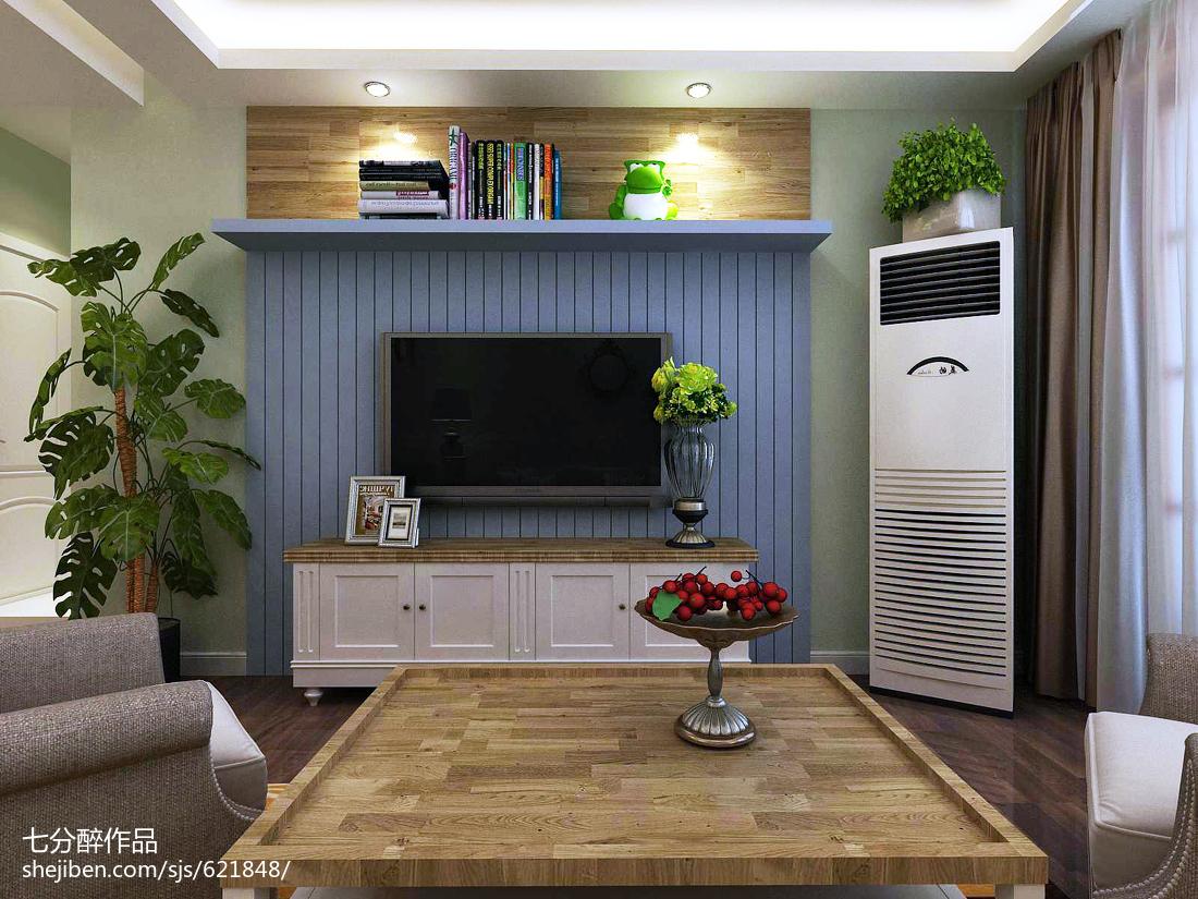 101平米三居客厅田园装修设计效果图片