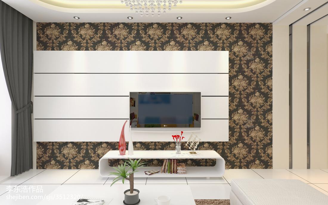 201870平米二居客厅现代设计效果图