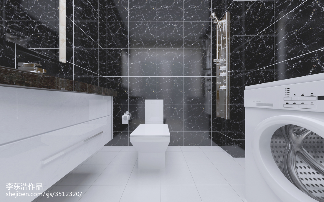 2018精选面积88平现代二居卫生间装修实景图片大全