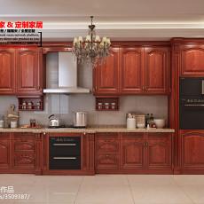 面积126平美式四居厨房效果图