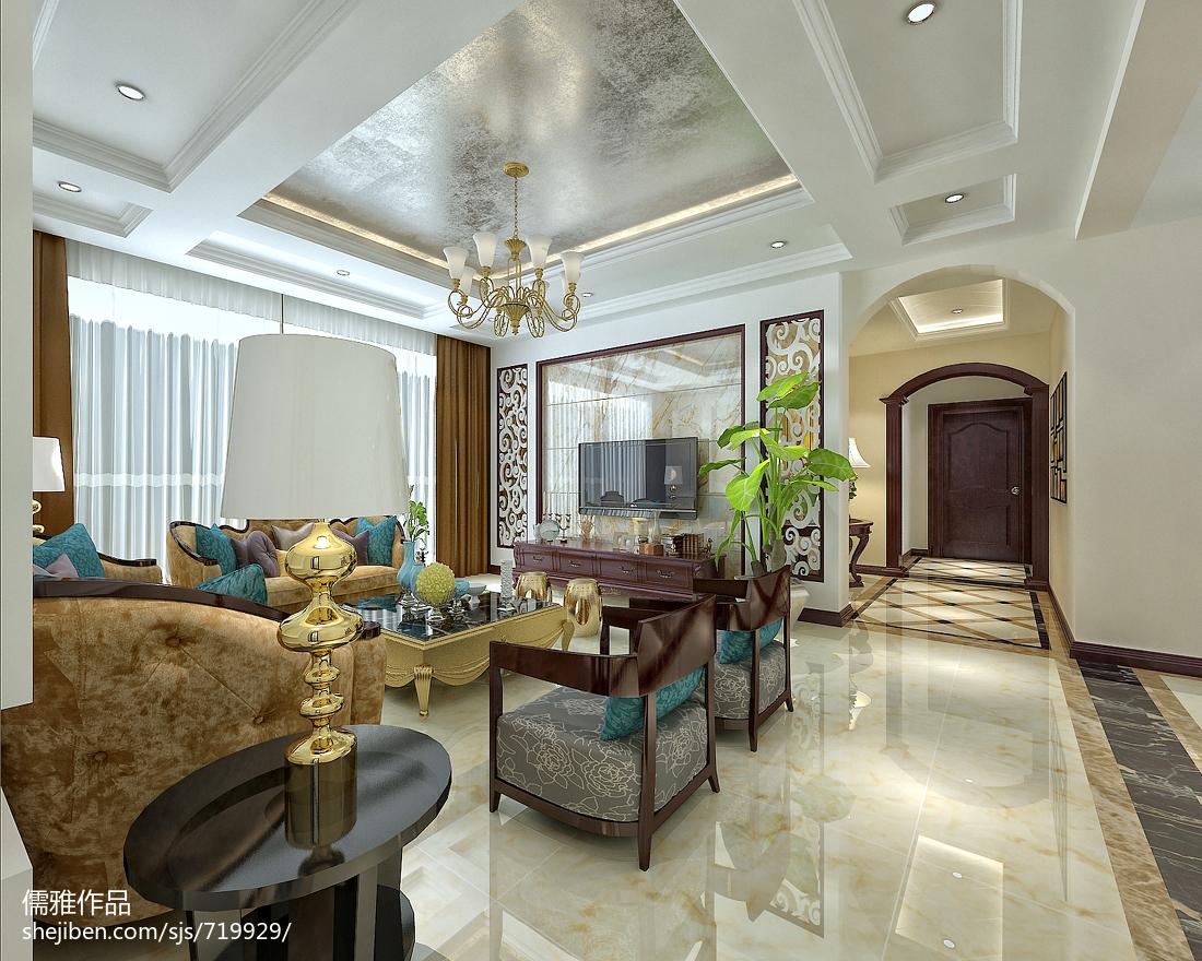 精选大小102平欧式三居客厅装修图片欣赏