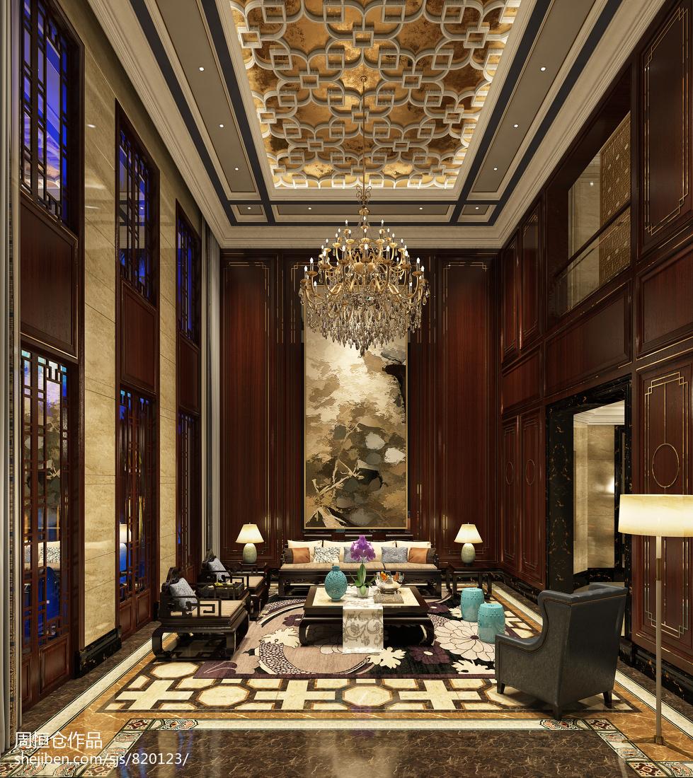 精选面积126平别墅客厅中式装修图片欣赏