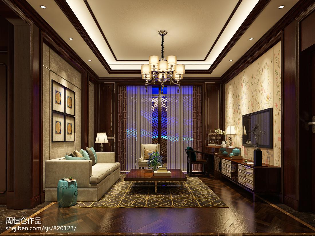 124平方中式别墅休闲区效果图片欣赏