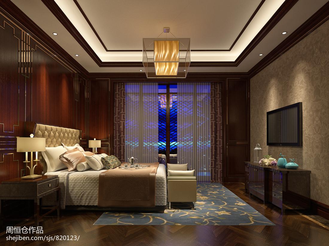 精选大小129平别墅卧室中式装修设计效果图片欣赏