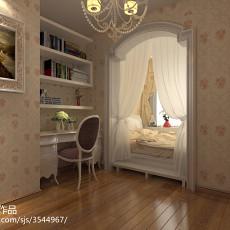 2018面积104平欧式三居卧室装饰图片大全