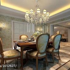 143平米美式别墅餐厅装修实景图